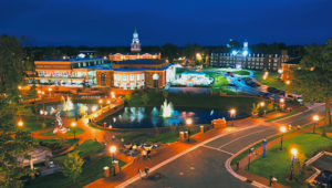 HPU Campus at Night