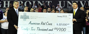 HPU Cares Presents $22,000 for Hurricane Sandy Relief