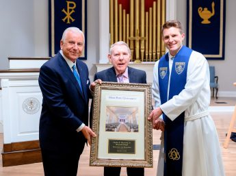 HPU Honors David R. Hayworth During Chapel Ceremony