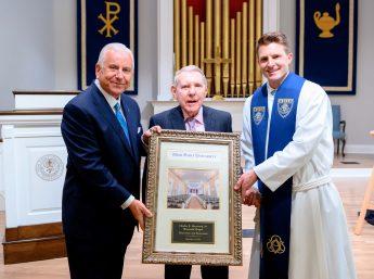 HPU Honors David R. Hayworth During Chapel Ceremony