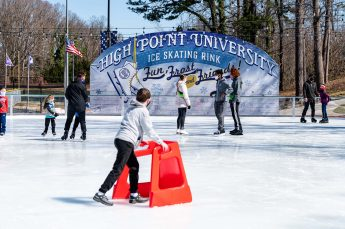 Community Members Enjoy HPU's Ice Rink