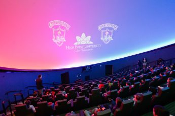 Local Children Visit HPU's Culp Planetarium