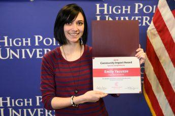 HPU Senior Emily Yacuzzo Receives Community Impact Student Award