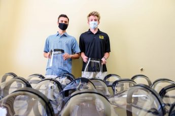 HPU's Sigma Nu Fraternity Makes Face Shields for Campus Employees
