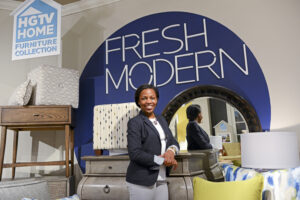 Senior Jaylan Oakes interned with the HGTV HOME Furniture Collection showroom.