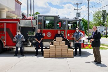 HPU Donates 500 Ponchos to the High Point Fire Department