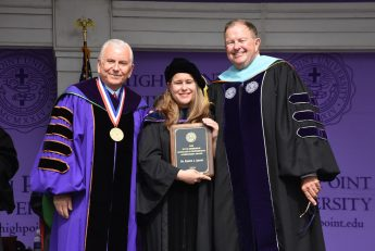 Kirstin Squint Receives HPU's Ridenhour Scholarly and Professional Achievement Award
