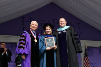 Meghan Blackledge Receives HPU's Slane Distinguished Teaching-Service Award