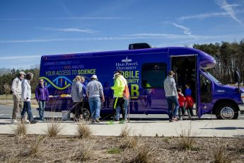 Sharing Science: HPU's Mobile Lab Visits Quarry Park in Winston-Salem