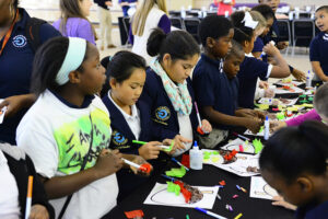 Montlieu students construct acorn crafts to celebrate the fall season.
