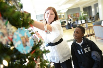 School of Education Hosts Montlieu Students for Holiday Festivities