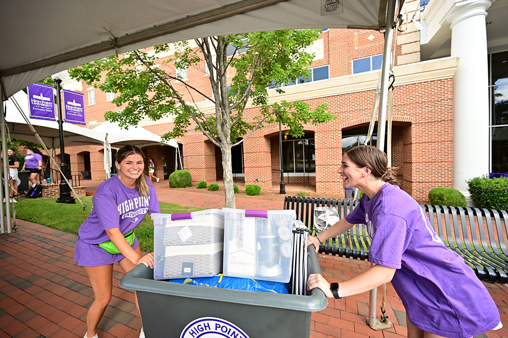 The Orientation Crew, consisting of upperclassmen, faculty and staff, pitched in to help new students move into their dorms and welcome them to the HPU family.