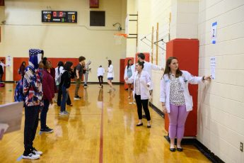 Physician Assistant Students Provide Free Vision Screenings to High School Students