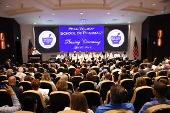 Fred Wilson School of Pharmacy Hosts Inaugural Pinning Ceremony
