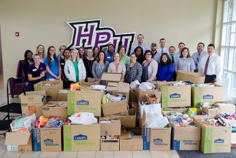 HPU Kicks off 'Stamp Out Hunger Drive' with Record Amount of Food