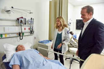 Rep. Ted Budd Visits HPU's Congdon Hall and Physician Assistant Program