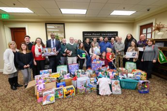 HPU's School of Communication Donates Gifts to Local Families