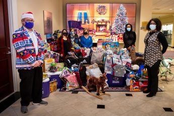HPU's School of Communication Gives Back to Families in Surrounding Communities