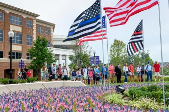 HPU Family Places Nearly 3,000 American Flags in Honor of 9/11 Victims