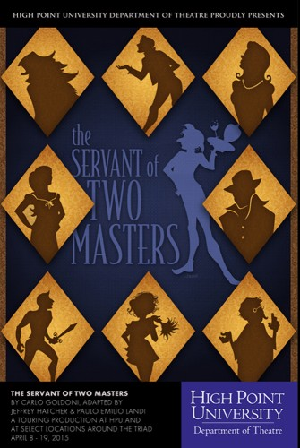 HPU Theatre Tours Triad for 'The Servant of Two Masters'