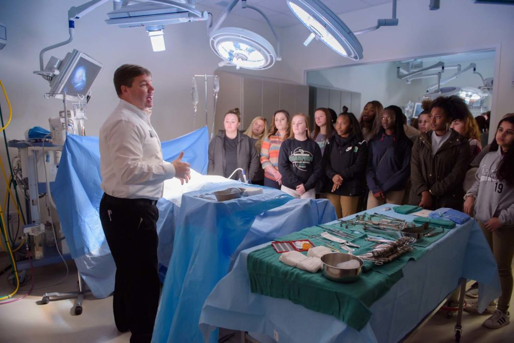 Physician Assistant Students Welcome Southwest Guilford High