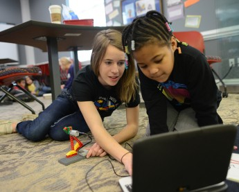 HPU Hosts Local First Graders for LEGO Robotics Showcase