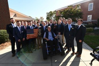 Veteran Nonprofit and HPU Fraternity Teamed Up to Present Track Chair to Wounded Veteran