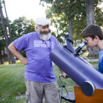 Terry Lee, the father of an HPU physics alumna, volunteers at last year's event.