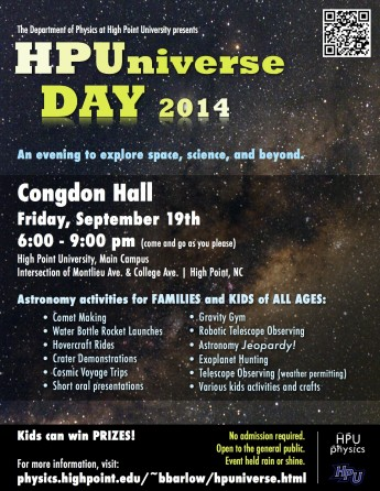 HPU to Host Family-Friendly Astronomy HPUniverse Event