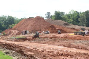 Construction site for the School of Health Sciences and School of Pharmacy