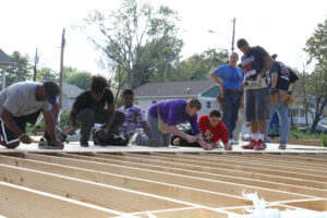 HPU High Point University basketball habitat for humanity