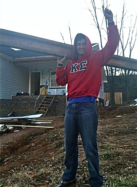 High Point University Sigma Kappa Habitat build