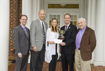 Sarah Stride Presented With 2015 HPU Haverty Cup