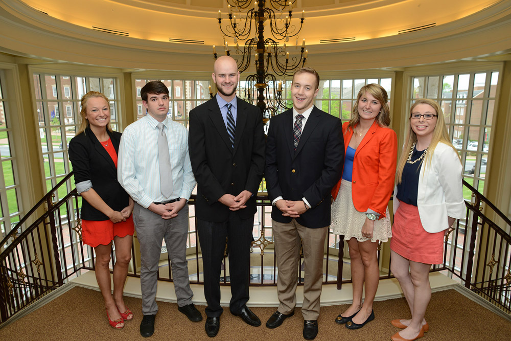 Pictured from left to right are team members Chelsea Donnigan, Joseph Marra, Joel Wilson, Connor Brackett, Grace Connors and Mary Hancock.