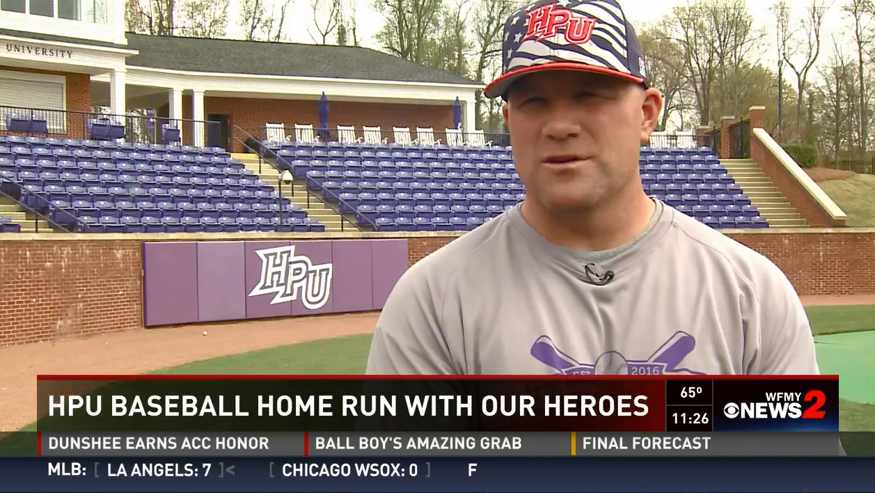 hpu baseball hosts home run with our heroes event high. Black Bedroom Furniture Sets. Home Design Ideas