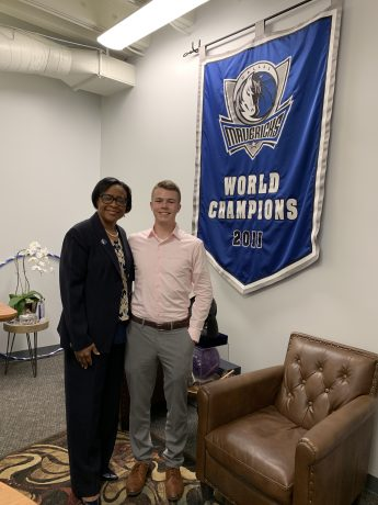 Internship Profile: Jake Wilkins Works with the Dallas Mavericks
