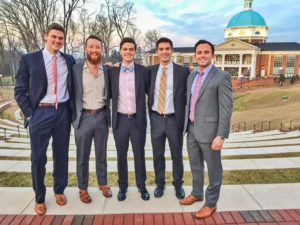 The Blessing Five: Nick Palmer, Anthony Vita, Jimmy Willis, Jeff Berwager and Connor Eline