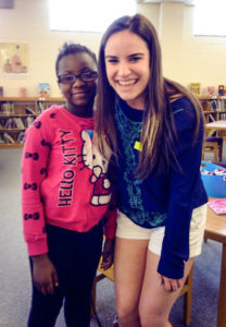 "Swiger mentored her ""little sister"" Tamia through the Big Brothers Big Sisters program"