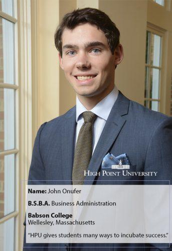 Class of 2018 Profile: John Onufer Heads to Graduate School
