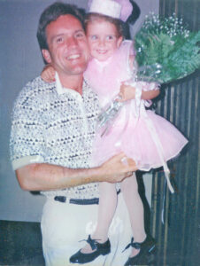 Pictured is Brittany Vose and her dad, John, who she lost to pancreatic cancer when she was just 5 years old.