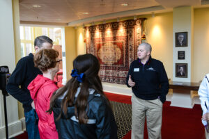 As a University Ambassador, Walston gives tours to prospective students and their families.