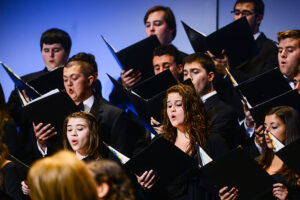 Walston performs during the fall choral concert