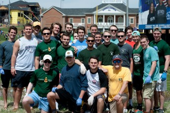 Fraternity Continues Local Stream Cleaning in Weekend of Service