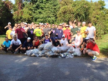 Fraternity Collects 200 Pounds of Garbage Along Local Stream
