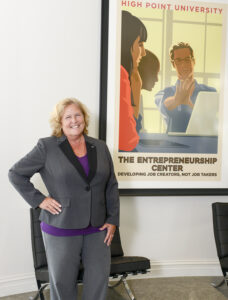 Kathy Elliott, director of the Belk Entrepreneurship Center