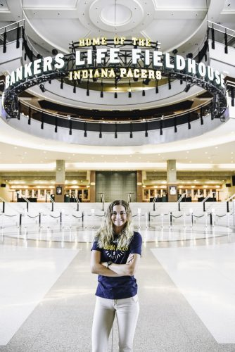 Internship Profile: Kaylee Kerr interns with Indiana Pacers