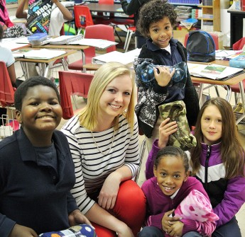 Books and Blankets: Students Deliver Surprise to Kirkman Park Elementary