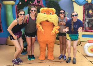 Calla Telzrow, Laura Bernitsky, Brianne Kaufman and Gabrielle Hayes at Disney World over Christmas break