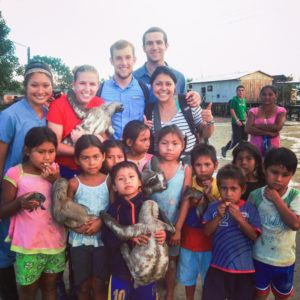Bernitsky volunteered with Medical Ministries International in eight villages along the Amazon River.