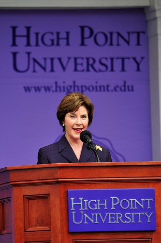 Former First Lady Laura Bush Encourages HPU Graduates to Focus on Helping Others